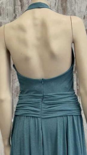 immagine 5 di Abito da donna Artigli plisse lurex lungo scollato e spacco lungo l'abito