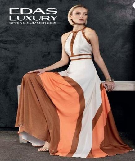 immagine 0 di Abito lungo Serrano Edas Luxury