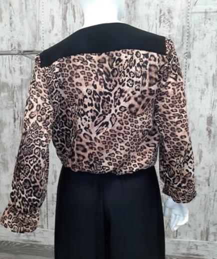 immagine 2 di Blusa camicia animalier chiara bruni