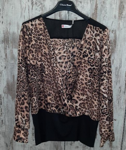 immagine 4 di Blusa camicia animalier chiara bruni