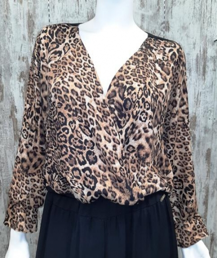 immagine 0 di Blusa camicia animalier chiara bruni