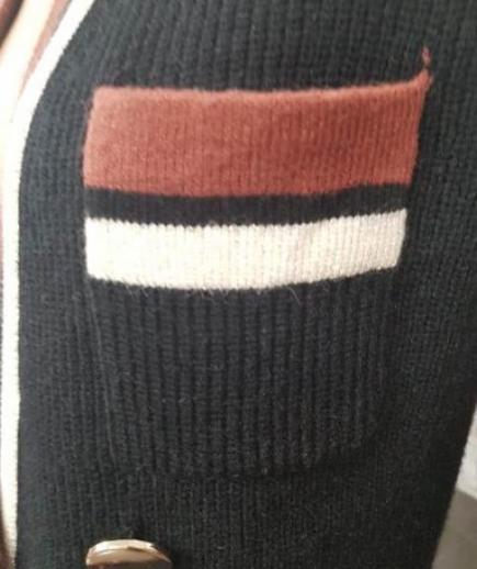 immagine 3 di Giacca abito bicolore doppiopetto lana Lolita