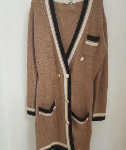 immagine 4 di Giacca abito bicolore doppiopetto lana Lolita