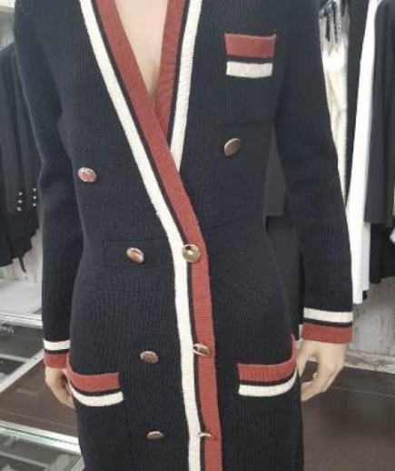immagine 1 di Giacca abito bicolore doppiopetto lana Lolita