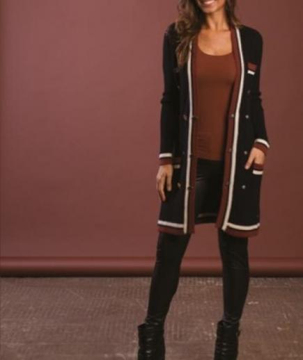 immagine 0 di Giacca abito bicolore doppiopetto lana Lolita