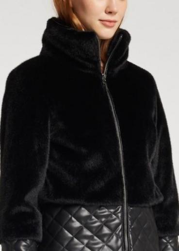immagine 4 di Giubbino da donna in pelliccia ecologica della gaudì fashion con zip