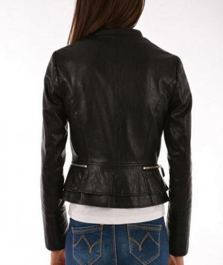 immagine 2 di Giubbino ecopelle della gaudì jeans in ecopelle.